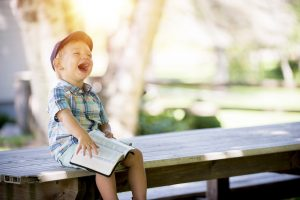 Funny Bible Verses, Boy, Laughing, Bible