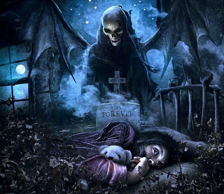 Evil, punishments, demon, grim reaper