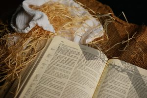 Bible in a manger