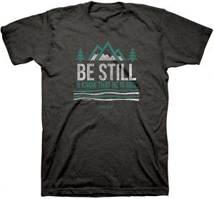 Men's T-Shirt, Black, Bible Verse