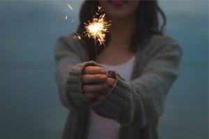 sparkler, new year blessing