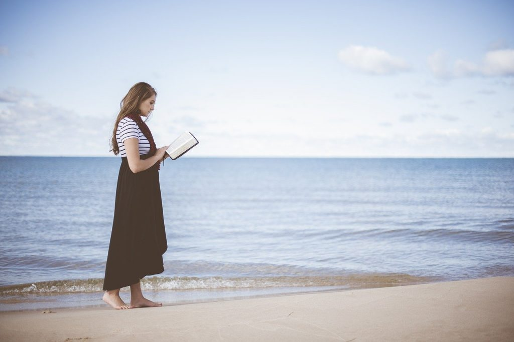 Woman, Words of Encouragement for Women, Beach, Reading